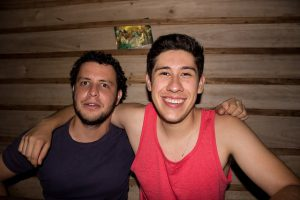 The author with Brayan at the homestay.