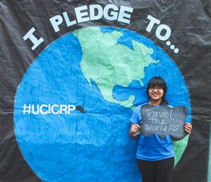 Junior Stacey Morales pledges to travel the world.