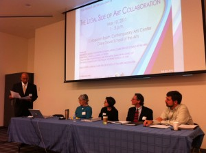 "panel for ""The Legal Side of Art Collaboration"""