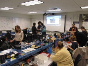 Mechatronics lab during an open house