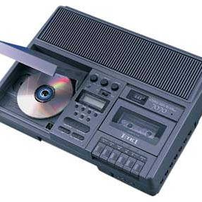 CD/cassette combo player