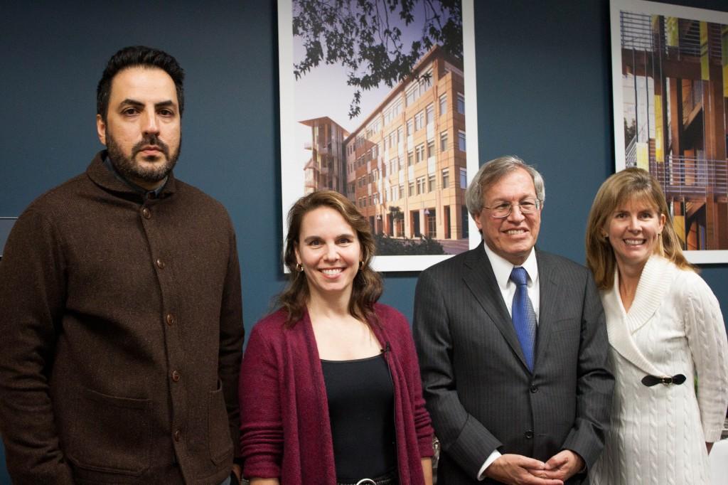 From left: Sohail Daulatzai, Charis Kubrin, Erwin Chemerinsky, & Elizabeth Cauffman