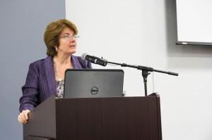 Dean Valerie Jenness, providing opening remarks