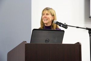 Center Director, Dr. Elizabeth Cauffman, providing closing remarks and moderating discussion