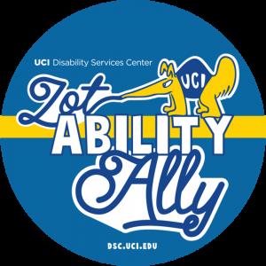 UCI Disability Services Center ZotAbility Ally logo, dsc.uci.edu