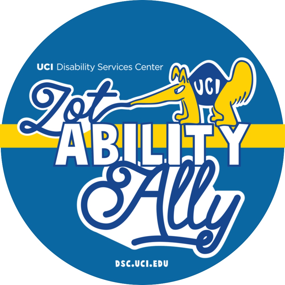 UCI Disability Services Center ZotAbility Ally logo, dsc.uci.edu
