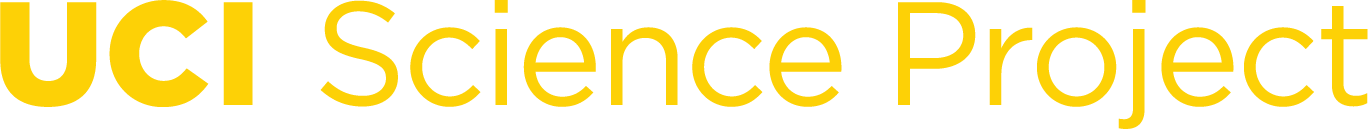 UCI Science Project single line yellow logo