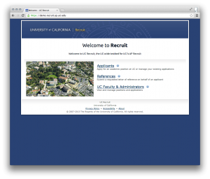 Sample homepage with campus image
