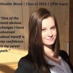 Maddie Blood – Internship leads to full time position