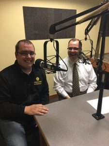 Sam Holloway at KBVM Radio, Mater Dei - The Thirsty Catholics.