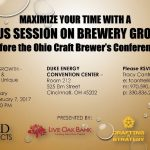 Dr. Sam Holloway heads to the Ohio Craft Brewer's Conference