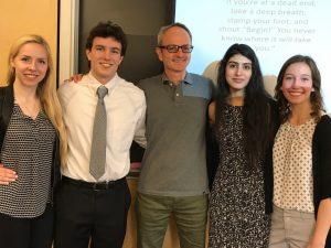 Kati Cooke, Victoria Crunkilton, Bhanu Pamma, Andrew Ripple with Prof. Jon Down