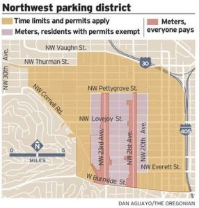 Northwest Parking District Map