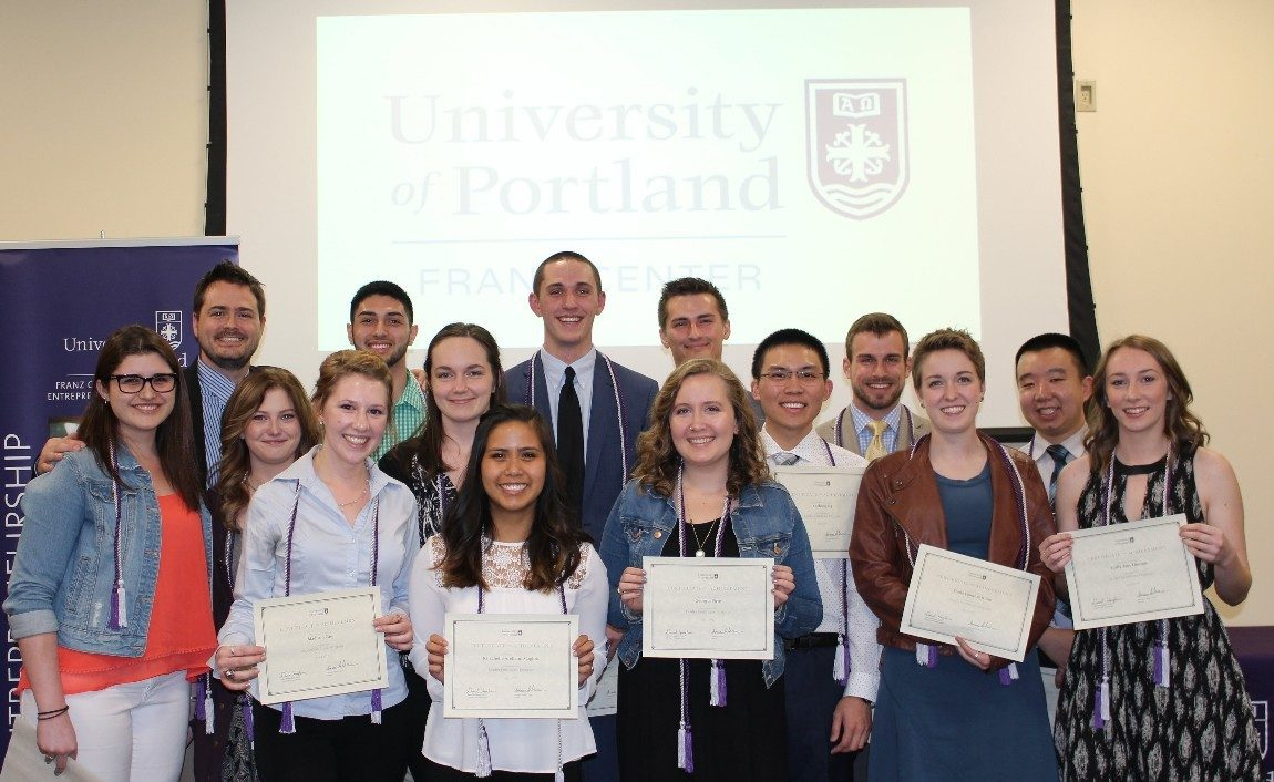 Leader Certificate Award Recipients. Back Row: Dr. Dave Houglum, Julian Urrea, Tyler Tennant, Cole Preece, Ashton Summers, Kevin Truong Middle: Kelsey Greve, Bonnie Carlson, Nicole Stucky, Anthony Ng Front: Madison Case, Krizchelle Magtoto, Georgia Pirie, Emily Kline, Molly Thomas