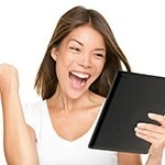 Tablet - Happy woman holding digital tablet dreamstime_m_27971475.jpg