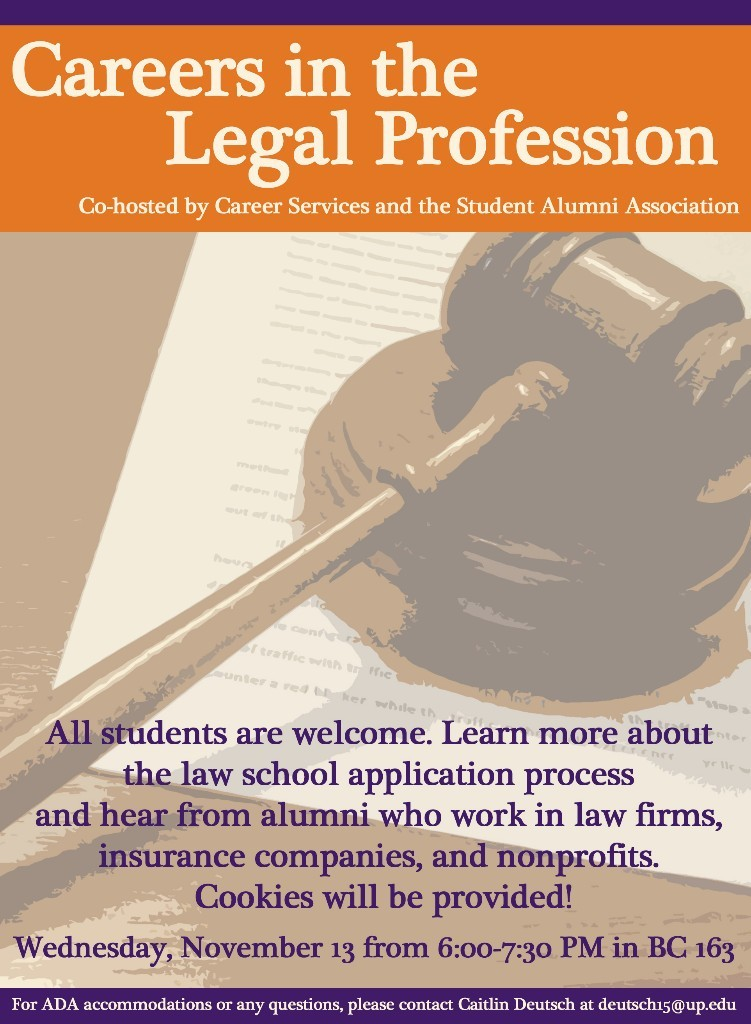 Careers in the Legal Profession flyer