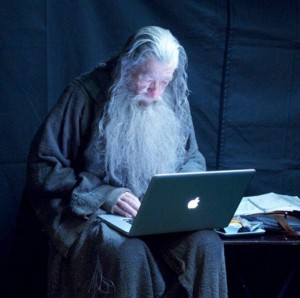 gandalf looking at macbook