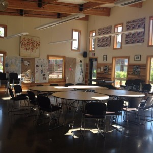 The Community Room at Bridge Meadows where most of the organizations activities take place.