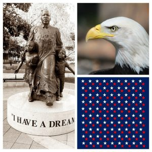 Martin Luther King & Bald Eagle Collage