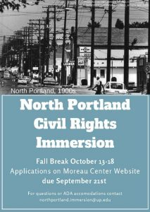 North Portland Immersion Flyer announcing Application Deadline