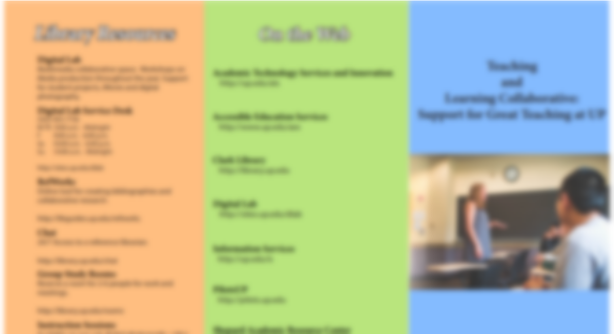 TLC Brochure: One-Stop For Your UP Teaching Questi…