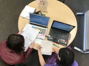 Writing assistance working with student
