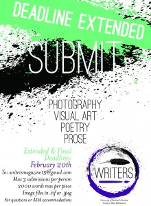 Writers journal ad poster deadline extended