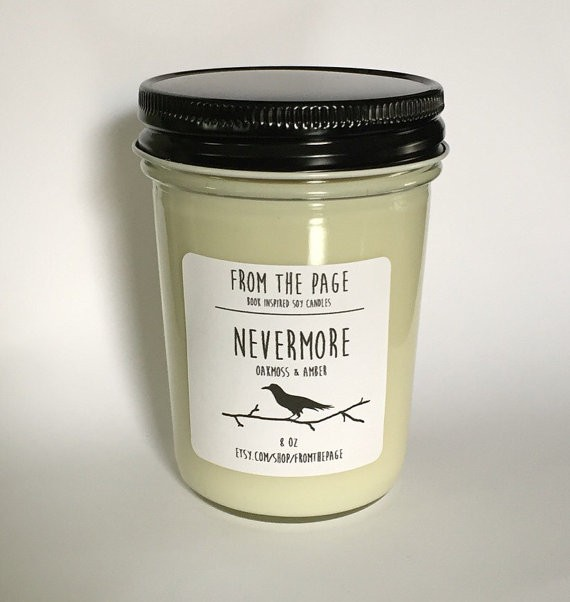 Bookish Candle