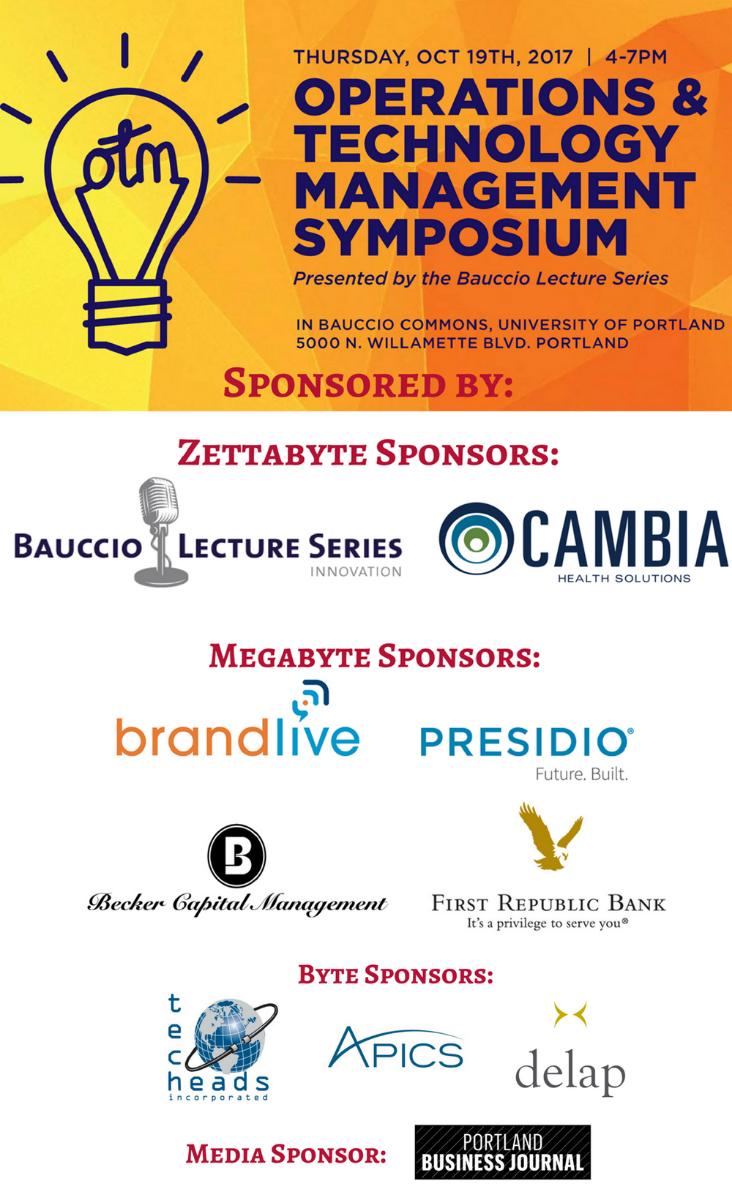 Sponsor list with Media Sponsor for the OTM Symposium