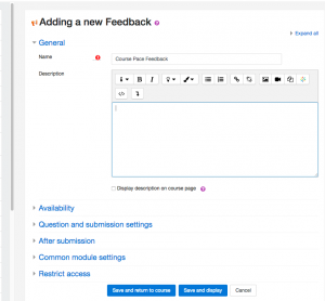 Getting started with your Feedback activity.