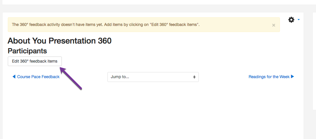 Editing your 360 feedback questions.