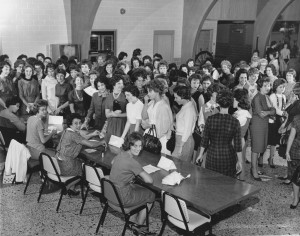 Freshmen women registration, 1961