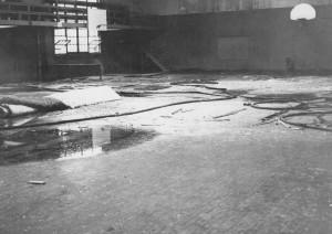 Howard Hall Fire, Basketball Court, 1949