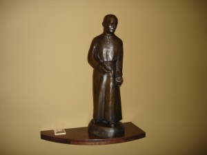 Brother Andre Bessette Statue in St. Andre Bessette Chapel, Tyson Hall.