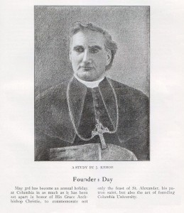 Archbishop Alexander Christie, Founder's Day, 1906