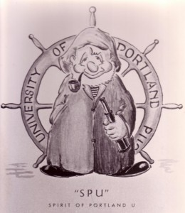 Nolan Drurey drawing of the Spirit of Portland U, 1948