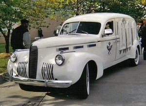 1940 La Salle Hearse used at Rosa Parks' Funeral, November 2, 2005.  Photo credit: Lauren from Metro Detroit, MI, Wikimedia Commons
