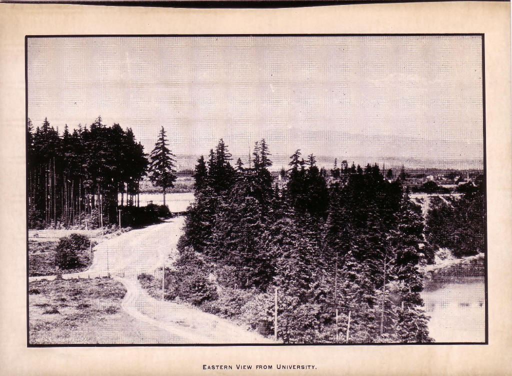 Portland University, Main entrance road along the Bluff, ca1892