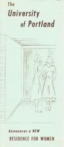 Announcing new dorm, 1956