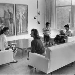 Women in Villa Maria Hall Lounge, 1957