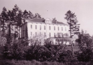 Back of St. Mary's Convent, 1944 (University Archives photo, Click to enlarge image)