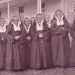 Sisters of St. Mary of the Presentation in front of St. Mary's Convent, ca1930 (University Archives photo, click for full image)