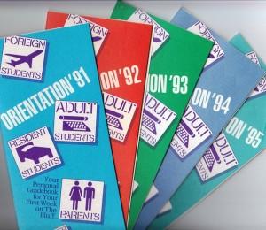 Orientation brochures, 1991-1995