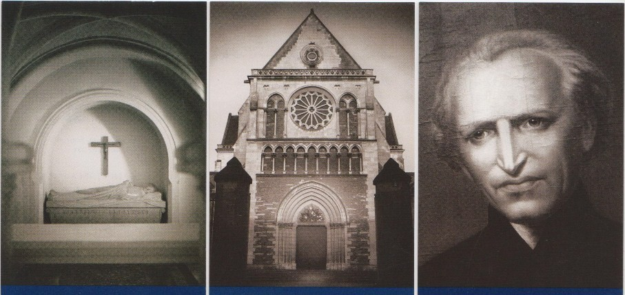 Spirit of Holy Cross Series by Steven Scardina (photographer) Crypt of Blessed Basil Moreau; Notre-Dame de Sainte-Croix, mother church of the Congregation Holy Cross; Moreau portrait