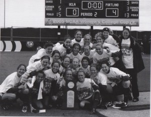 Championship team with trophy, 2005 (UP Soccer Media)