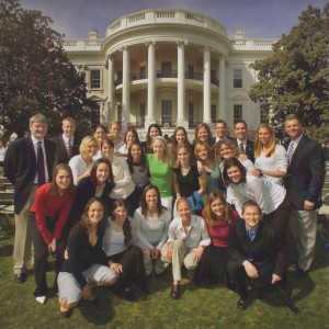 2005 Championship Team on the White House Lawn, April 6, 2006 (Steven Gibbons, photographer)