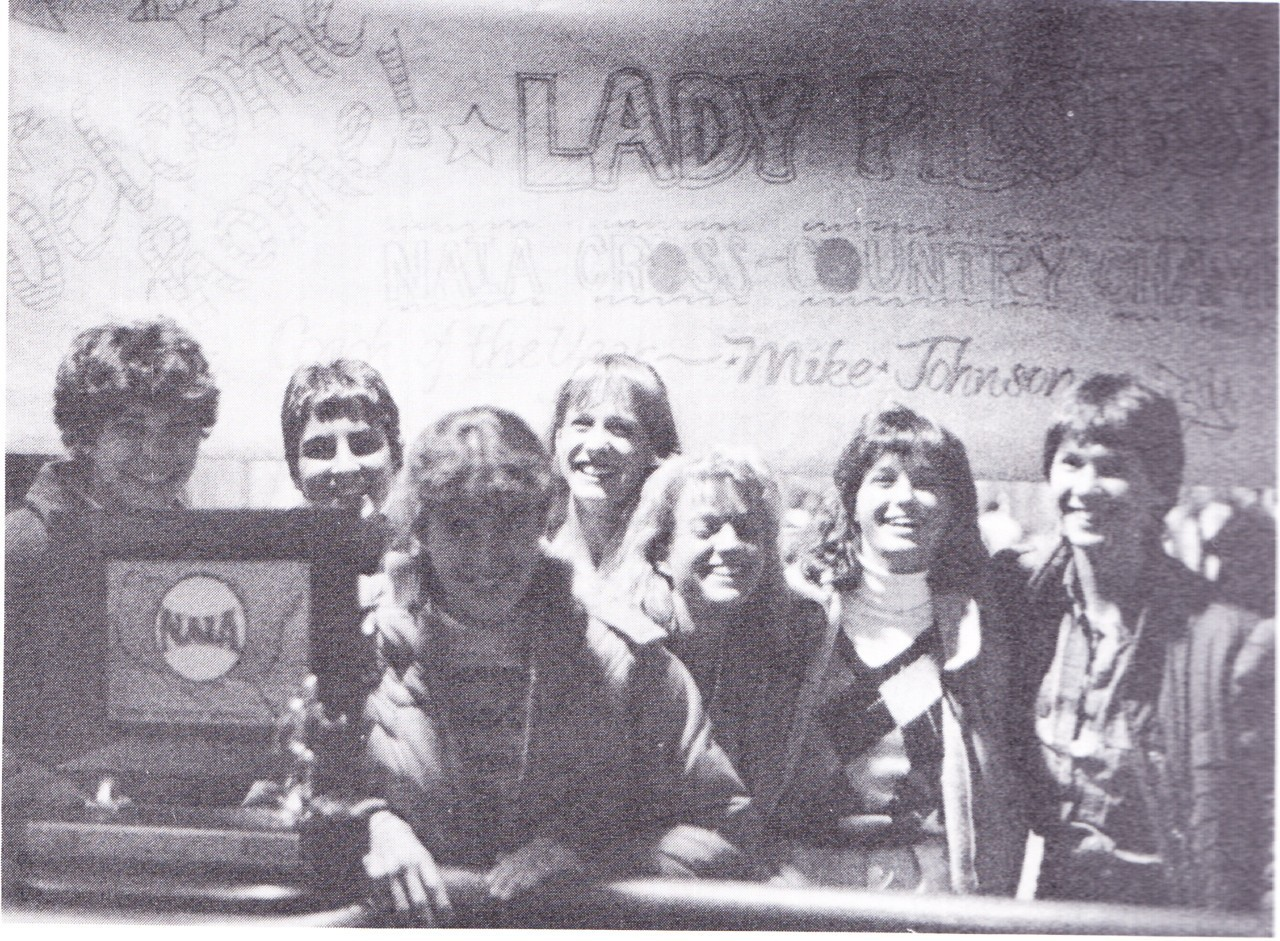 1985 Women's Cross Country Team (1986 Log)