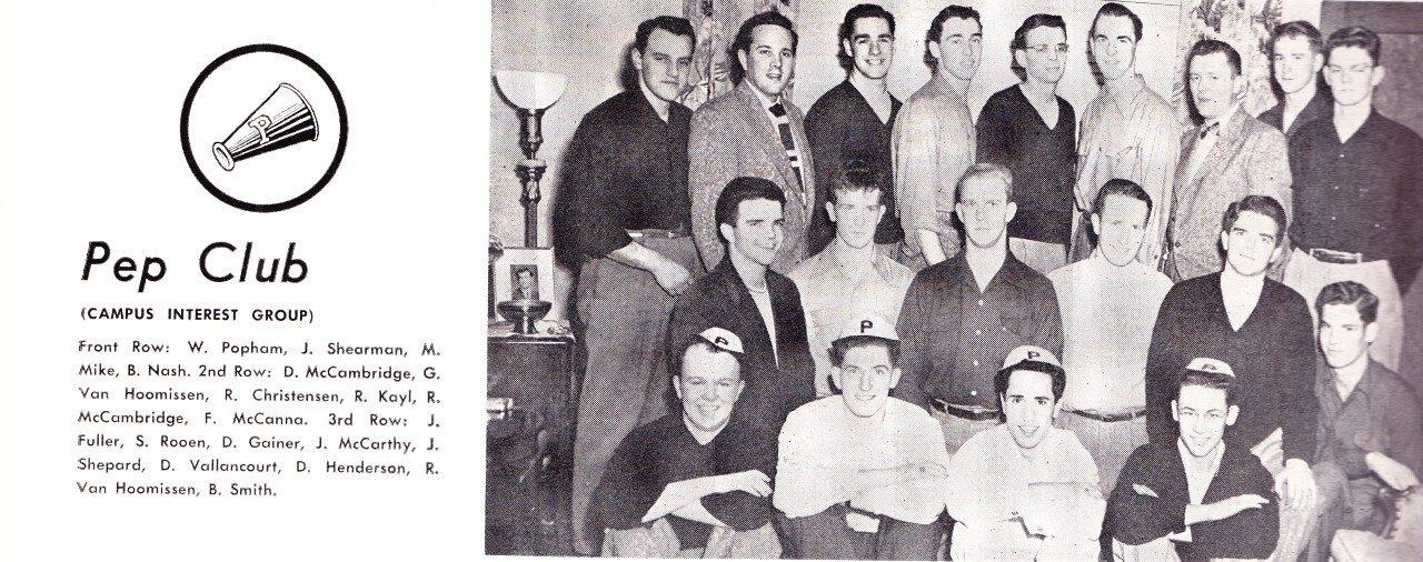 Pep Club, 1951 LOG