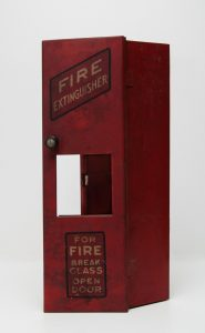 Fire Extinguisher Box from the Old Science Hall, c.1937