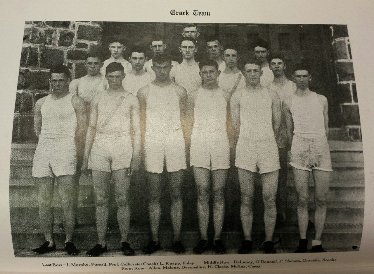 Columbia University Track Team, 1916 (Columbiad, May 1916, University Museum photo)